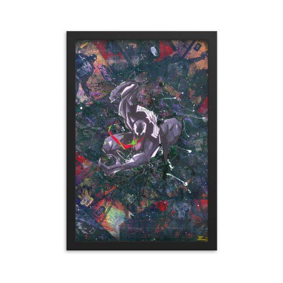 Venom Comic Canvas Framed Reproduction Print