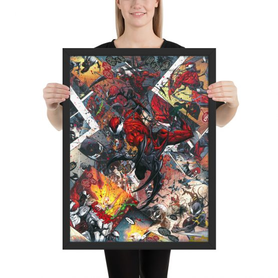 Carnage Comic Canvas Framed Reproduction Print