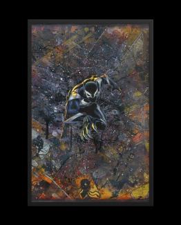 Black Panther Venom – Venomverse Comic Canvas Framed Reproduction Print