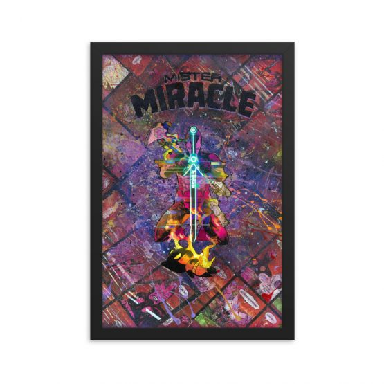 Mister Miracle Comic Canvas Framed Reproduction Print