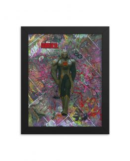 Darkseid Comic Canvas Framed Reproduction Print