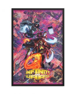 Infinity Wars Comic Canvas Framed Reproduction Print