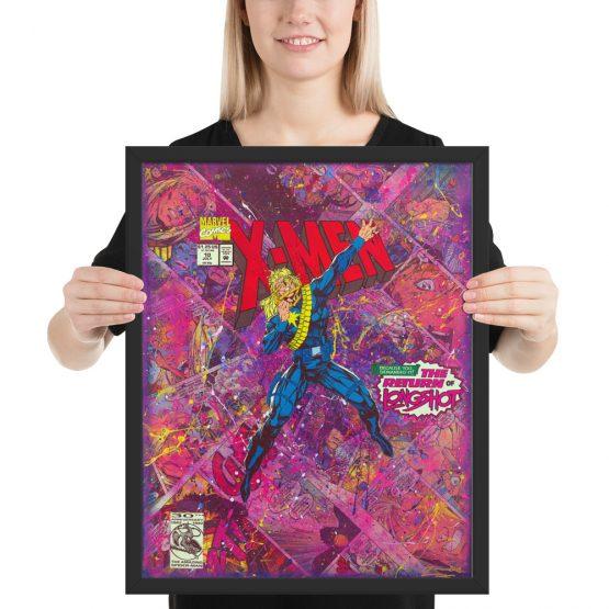 X-Men Comic Canvas – 'The Return of Longshot' Framed Reproduction Print