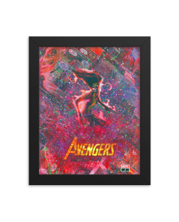 Weapon Hex – Marvel Infinity Warps – Scarlet Witch x X-23 Comic Canvas Framed Reproduction Print