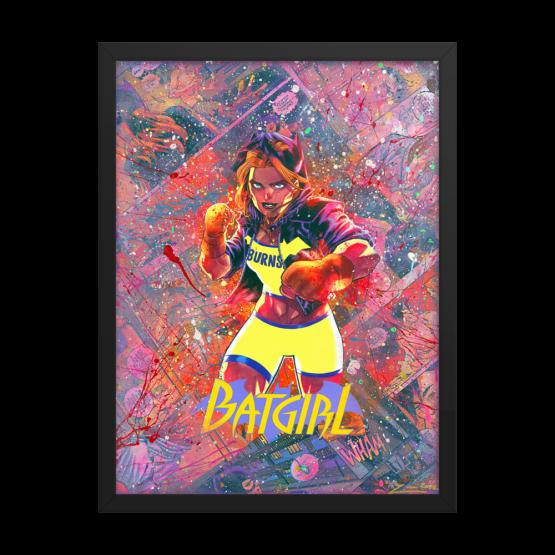 Batgirl Comic Canvas Framed Reproduction Print