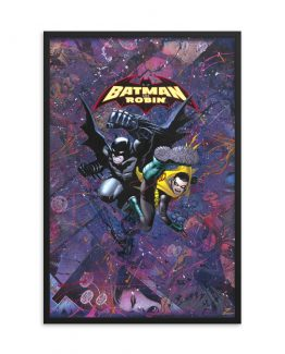 Batman and Robin #0 – DC Comic Canvas Framed Print