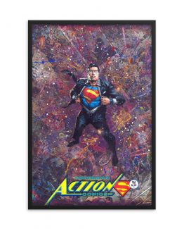 Superman Action Comics #961 – DC Comic Canvas Framed Print