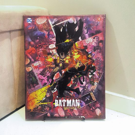The Batman Who Laughs – One Shot -Variant Cover – Dark Knights Metal – One of A Kind DC Comic Book Canvas