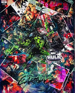 Absolute Carnage no. 3 – Young Guns 2019 Variant Cover by Pepe Larrez – The Venomous Hulk – One of A Kind Marvel Comic Book Canvas