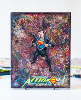 Superman Action Comics #961 – One of A Kind First Edition DC Comic Book Canvas
