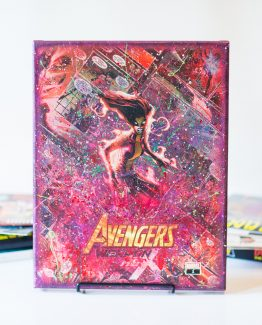 Weapon Hex #1 – Infinity Warps – Scarlet Witch & X-23 Mashup – One of a Kind Comic Canvas