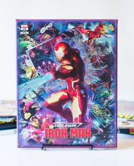 Tony Stark: Iron Man #12 Variant Cover – One of A Kind Marvel Comic Book Canvas