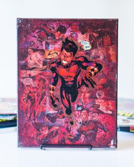 Dark Superboy- One of A Kind First Edition DC Comic Book Canvas