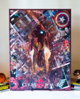 Iron Man Custom 18″x24″ Variant Cover – One of A Kind Marvel Comic Book Canvas
