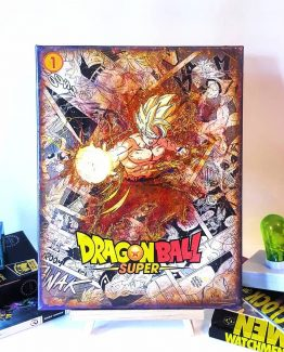 Super Saiyan Goku – One of A Kind Dragon Ball Super Comic Manga Canvas