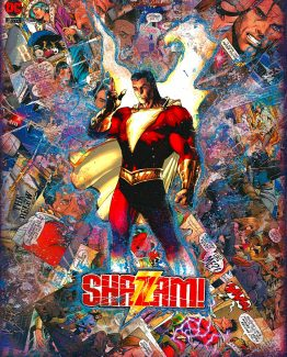 SHAZAM – Custom Jim Lee Variant Cover – Dark Knights Metal – One of A Kind DC Comic Book Canvas